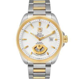 Tag Heuer Siilver 18K Yellow Gold Grand Carrera 40M WAV515B Men's Wristwatch 40 MM