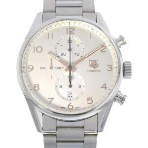 Tag Heuer Silver Stainless Steel Carrera Caliber 1887 Men's Wristwatch 43 MM