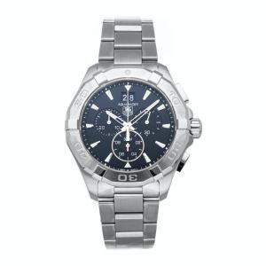 Tag Heuer Black Stainless Steel Aquaracer Chronograph Big Date CAY1110.BA0927 Men's Wristwatch 43 MM