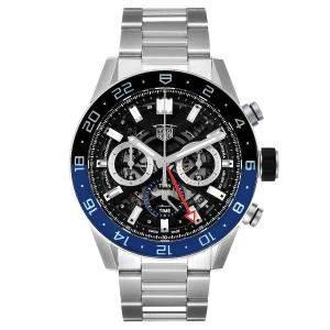 Tag Heuer Black Stainless Steel Carrera Batman Chronograph CBG2A1Z Men's Wristwatch 45 MM
