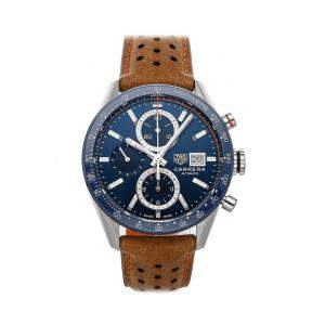 Tag Heuer Blue Stainless Steel Carrera Calibre 16 Chronograph CBM2112.FC6455 Men's Wristwatch 41 MM