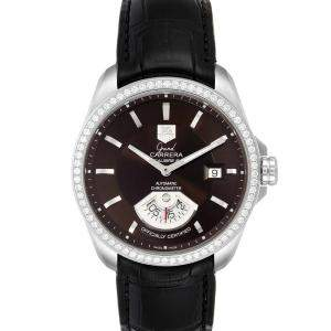 Tag Heuer Black Diamonds Stainless Steel Grand Carrera WAV511E Men's Wristwatch 42.5 MM