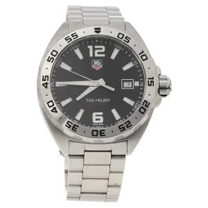 Tag Heuer Black Stainless Steel Formula 1 WAZ1112.BA0875 Quartz Men's Wristwatch 41 mm