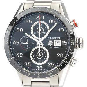 Tag Heuer Black Stainless Steel Carrera Calibre 1887 Chronograph CAR2A10 Men's Wristwatch 43 MM