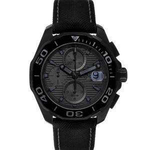 Tag Heuer Black Titanium PVD Aquaracer Calibre 16 Chrono CAY218B Men's Wristwatch 43 MM
