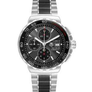 Tag Heuer Grey Stainless Steel Formula 1 Calibre16 Chronograph CAU2011 Men's Wristwatch 44 MM