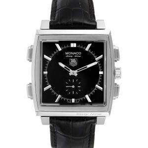 Tag Heuer Black Stainless Steel Monaco Sixty-Nine Manual Quartz CW9110 Men's Wristwatch 40 MM