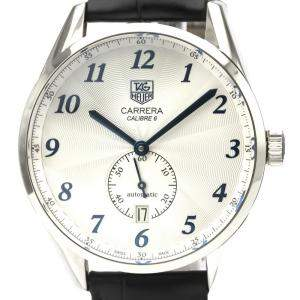 Tag Heuer Silver Stainless Steel Carrera WAS2111 Automatic Men's Wristwatch 39 MM