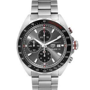 Tag Heuer Grey Stainless Steel Formula 1 Calibre16 Chronograph CAZ2012 Men's Wristwatch 44 MM