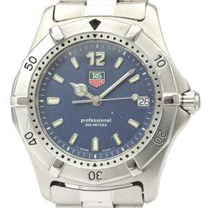 Tag Heuer Blue Stainless Steel 2000 Classic Wk1113 Quartz Men's Wristwatch 37 MM