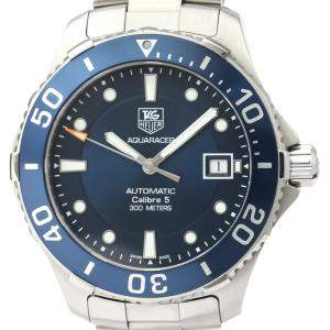 Tag Heuer Blue Stainless Steel Aquaracer WAN2111 Automatic Men's Wristwatch 42 MM