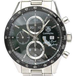 Tag Heuer Black Stainless Steel Carrera CV201N Automatic Men's Wristwatch 41 MM