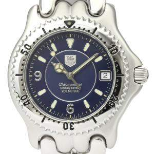Tag Heuer Blue Stainless Steel Sel 200M Chronometer WG5114 Automatic Men's Wristwatch 38 MM