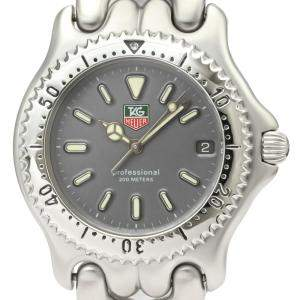 Tag Heuer Grey Stainless Steel Sel Professional 200M S99.206 Quartz Men's Wristwatch 37 MM