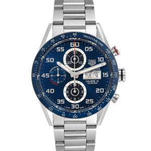 Tag Heuer Blue Stainless Steel Carrera Chronograph CV2A1V Men's Wristwatch 43 MM