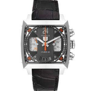 Tag Heuer Grey Stainless Steel Monaco Twenty Four Chronograph CAL5112 Men's Wristwatch 40.5 MM