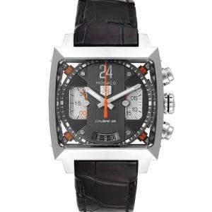 Tag Heuer Grey Stainless Steel Monaco Twenty Four Chronograph CAL5112 Men's Wristwatch 40.5 MM