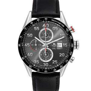 Tag Heuer Grey Stainless Steel Carrera Chronograph CAR2A11 Men's Wristwatch 43 MM