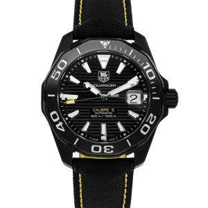 Tag Heuer Black Blacksteel Aquaracer Calibre 5 WAY218A.FC6362 Men's Wristwatch 41 MM