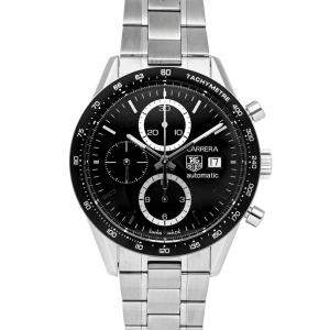 Tag Heuer Black Stainless Steel Carrera Chronograph CV2010.BA0794 Men's Wristwatch 41 MM