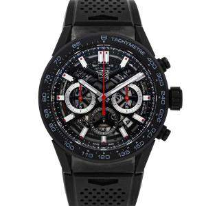 Tag Heuer Black Ceramic Carrera Chronograph CBG2A90.FT6173 Men's Wristwatch 45 MM