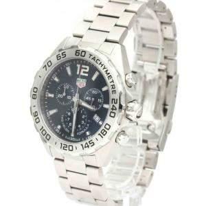 Tag Heuer Blue Stainless Steel Formula 1 Chronograph Quartz CAZ101K Men's Wristwatch 43 MM