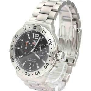 Tag Heuer Black Stainless Steel Formula 1 Grand Date Men's Wristwatch WAU111A Men's Wristwatch 42 MM