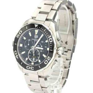 Tag Heuer Black Stainless Steel Aquaracer Quartz CAY111A Men's Wristwatch 43 MM