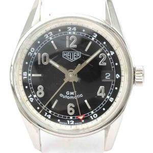Tag Heuer Black Stainless Steel Carrera GMT Automatic WS2113 Men's Wristwatch 36 MM