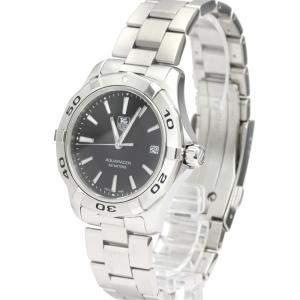 Tag Heuer Black Stainless Steel Aquaracer WAP1110 Quartz Men's Wristwatch 40 MM