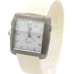 Tag Heuer White Stainless Steel Professional Quartz WAE1112 Men's Wristwatch 36 MM