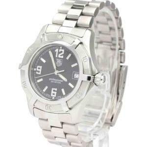 Tag Heuer Black Stainless Steel Professional 200M Quartz WN1210 Men's Wristwatch 34 MM
