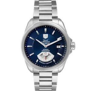 Tag Heuer Blue Stainless Steel Carrera Automatic WAV511J Men's Wristwatch 40 MM