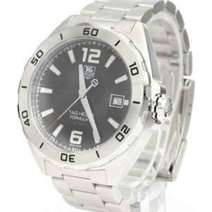 Tag Heuer Black Stainless Steel Formula 1 WAZ2113 Automatic Men's Wristwatch 41 MM