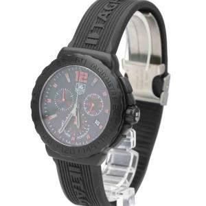 Tag Heuer Black Stainless Steel Formula 1 Quartz Chronograph CAU111A Men's Wristwatch 42 MM