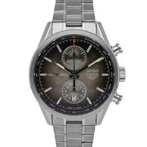 Tag Heuer Brown Stainless Steel Carerra Calibre 1887 Chronograph CAR2112 Men's Wristwatch 41 MM