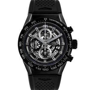 Tag Heuer Black Ceramic Carrera Chronograph CAR2A90 Men's Wristwatch 45 MM