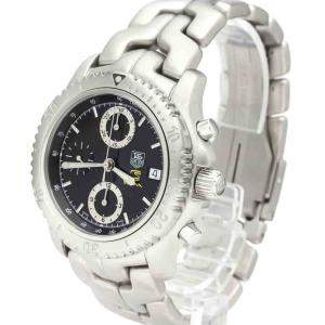 Tag Heuer Black Stainless Steel Link Chronograph Ayrton Senna Limited CT5114 Men's Wristwatch 42 MM