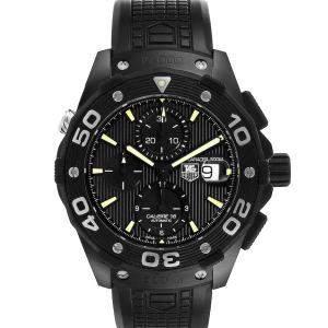 Tag Heuer Black Titanium PVD Aquaracer Calibre 16 CAJ2180 Men's Wristwatch 44 MM