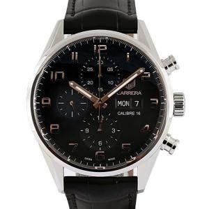 Tag Heuer Black Stainless Steel Carrera Men's Wristwatch 43 MM