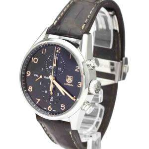 Tag Heuer Black Stainless Steel Carrera CAR2014 Automatic Men's Wristwatch 43 MM