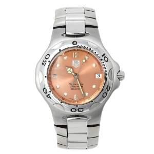 ساعة يد رجالية تاغ هيوير كيريوم WL5114.BA0701 ستانلس ستيل سلمون 38مم