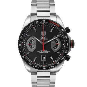 Tag Heuer Black Stainless Steel Grand Carrera Automatic CAV511C Men's Wristwatch 43 MM