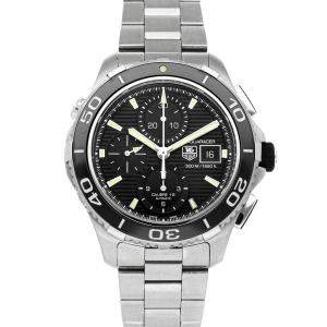 Tag Heuer Black Stainless Steel Aquaracer 500m CAK2111.BA0833 Men's Wristwatch 43 MM