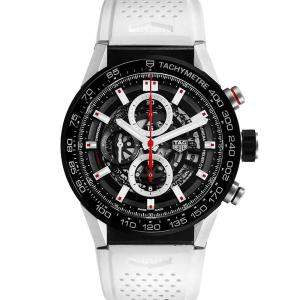 Tag Heuer Black Titanium Carrera Calibre Heuer 01 CAR2A1Z Men's Wristwatch 45 MM