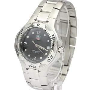 Tag Heuer Black Stainless Steel Kirium Wl1012 Quartz Men's Wristwatch 39 MM