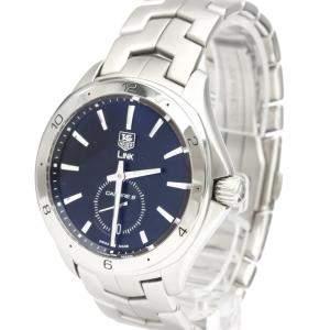 Tag Heuer Black Stainless Steel Link WAT2110 Automatic Men's Wristwatch 40 MM