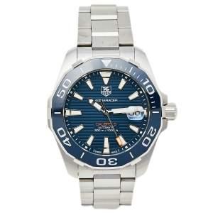 ساعة يد رجالية تاغ هيوير اكواراسير WAY211C.BA0928 ستانلس ستيل و سيراميك زرقاء 41 مم