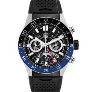 Tag Heuer Black Stainless Steel Carrera CBG2A1Z Men's Wristwatch 45 MM
