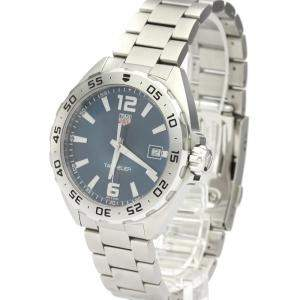 Tag Heuer Blue Stainless Steel Formula 1 WAZ1118 Quartz Men's Wristwatch 41 MM